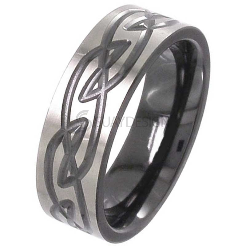 Women's Zirconium Celtic Ring 4059RB