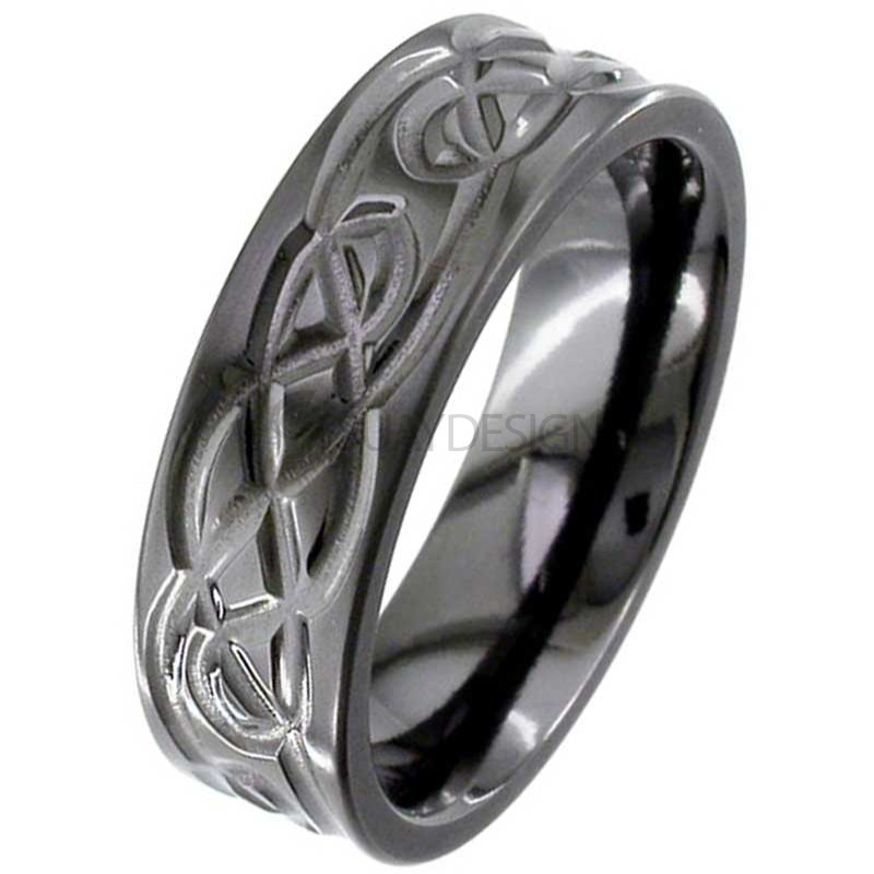 Zirconium Celtic Ring 4062B
