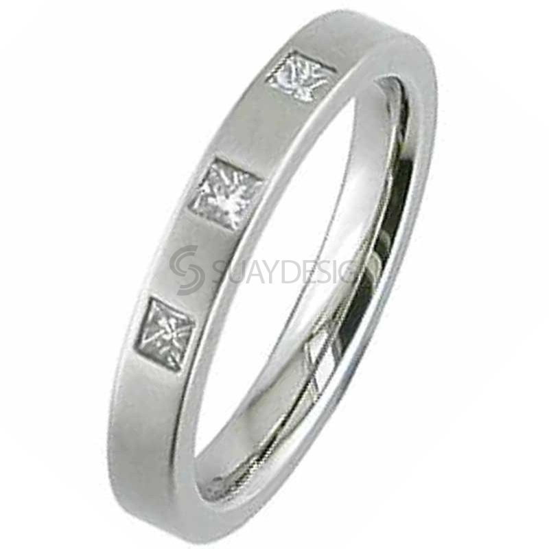 Women's Titanium Ring 2226DS-3X5PNTPRIN