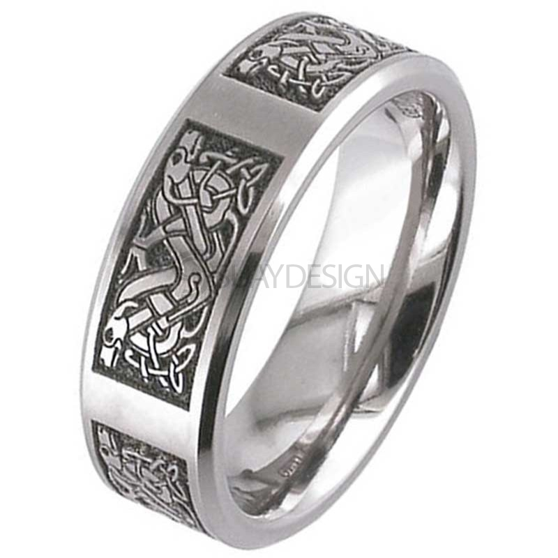 Women's Titanium Celtic Knot Ring 2226CH-CD4