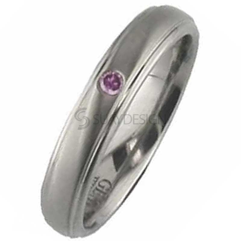 Women's Titanium Ring 2205PDS-3PNT