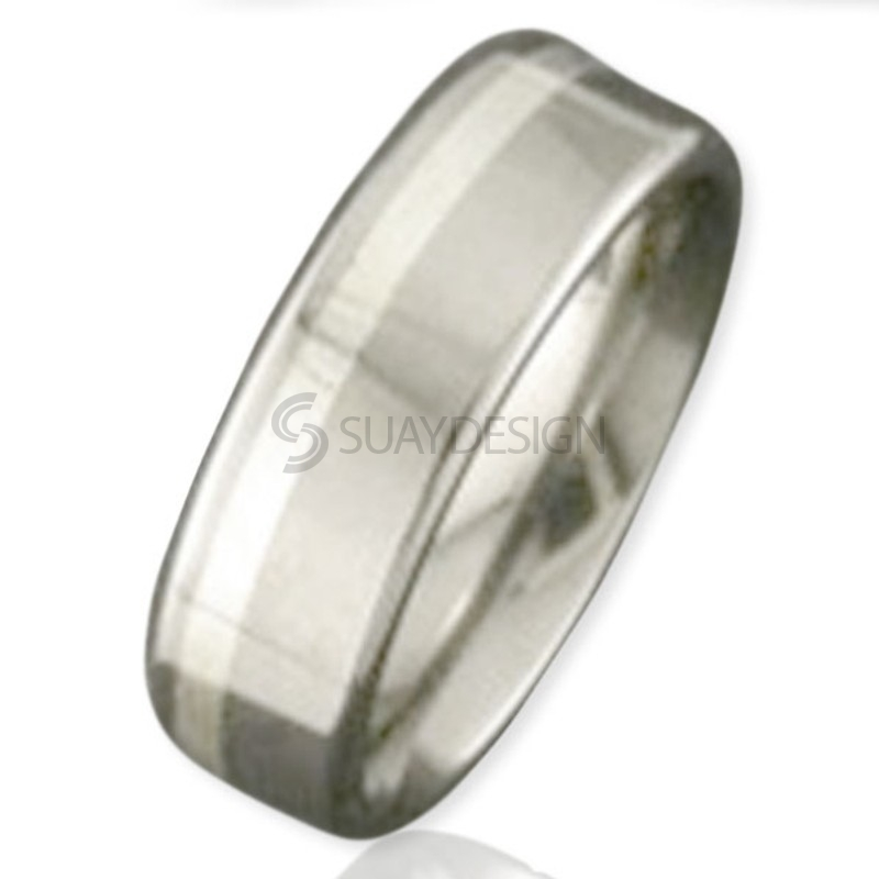 Women's White Gold & Titanium Ring 2208-1.5MM9KW