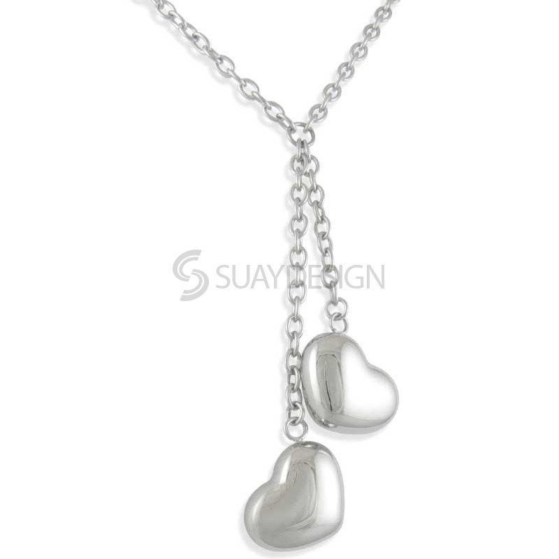 Women's Caress Duo Steel Necklace