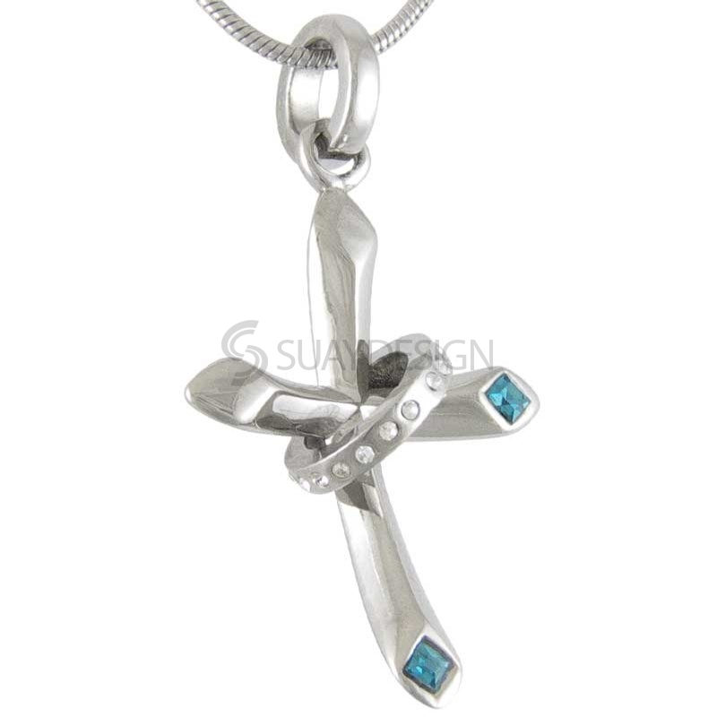 Women's Royal Cubic Zirconia Cross