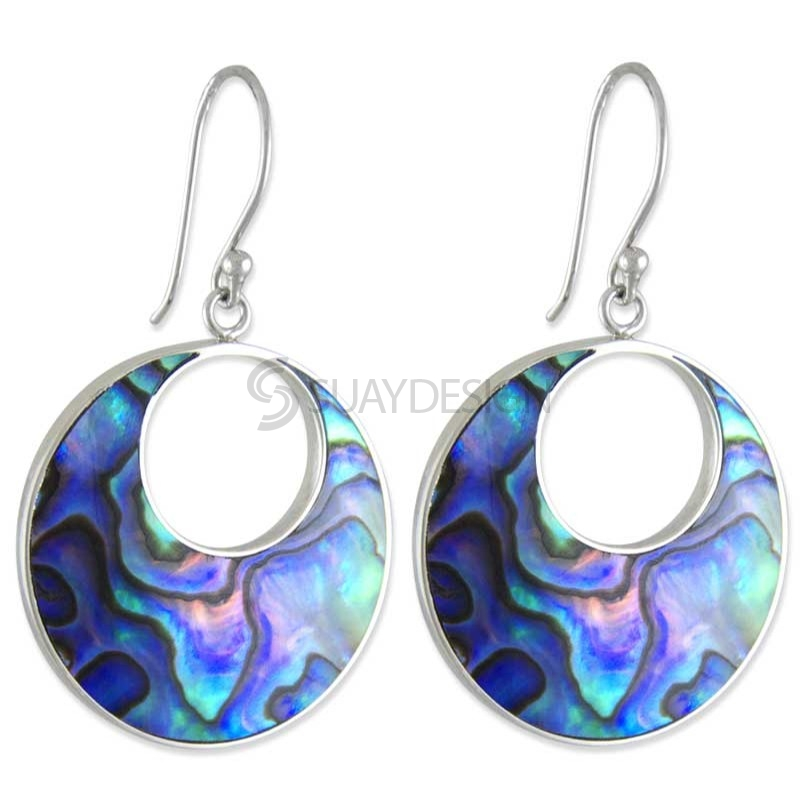 Women's Oval Paua Shell Earrings