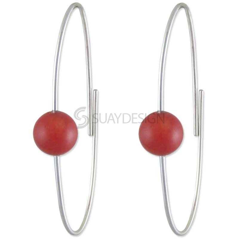 Women's Applause Red Coral Earrings