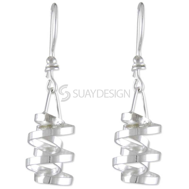 Women's Whirl Silver Earrings