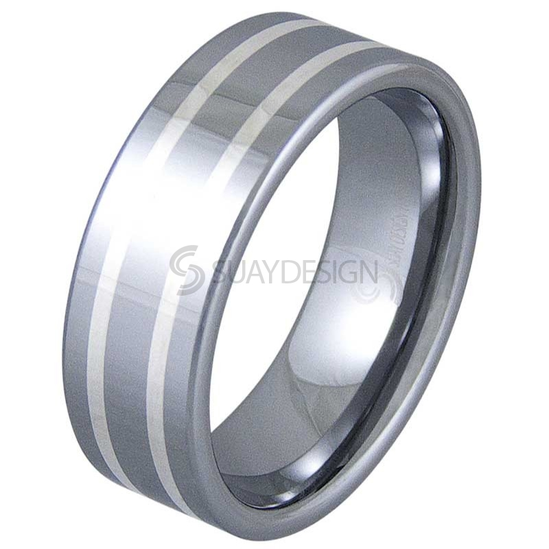 Accomplish Tungsten Polished Ring