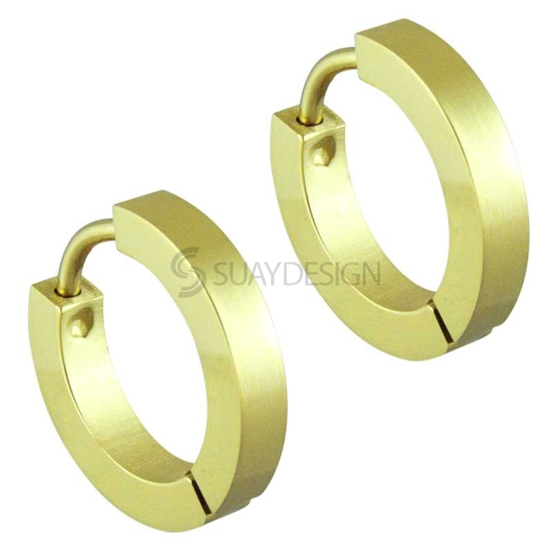 Women's Gold Slim Huggie Earrings
