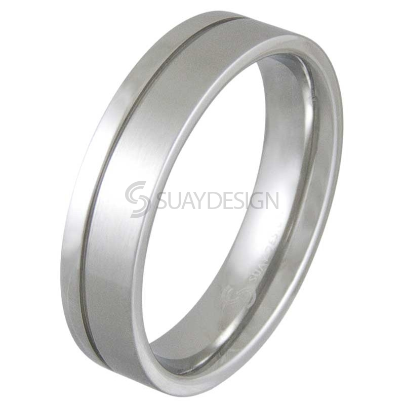 Women's Trace Steel Ring
