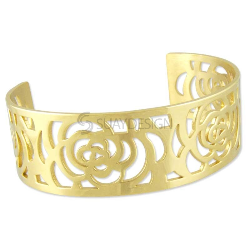 Women's Golden Rose Steel Bangle