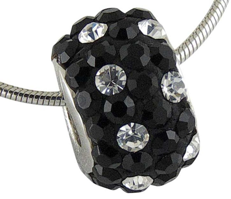 Women's Spotty Black Crystal Wheel
