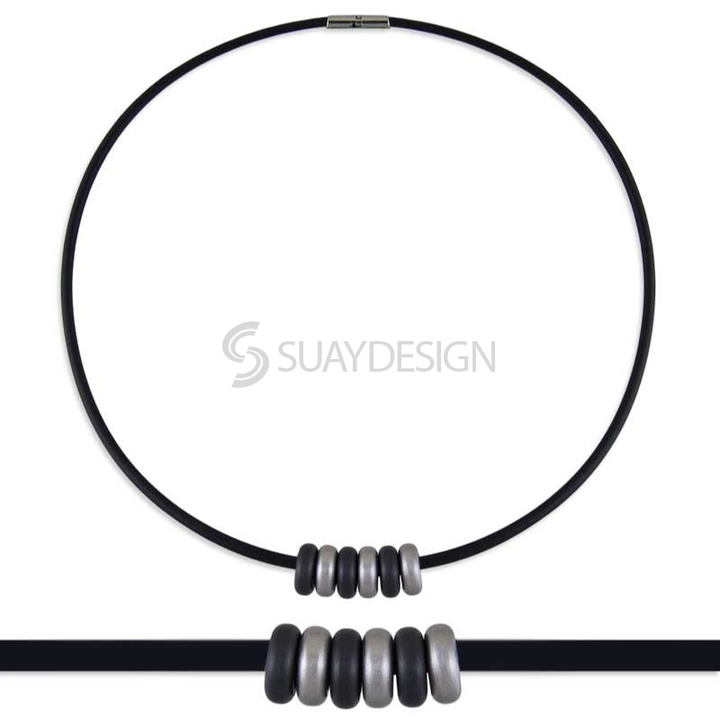 Synthesis 8 Titanium Necklace