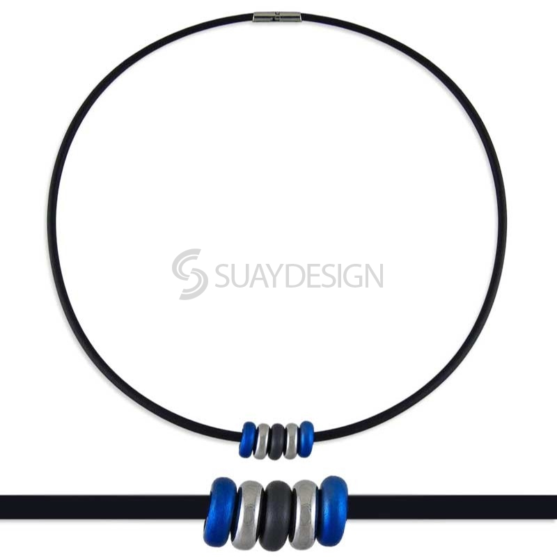 Synthesis 9 Titanium Necklace