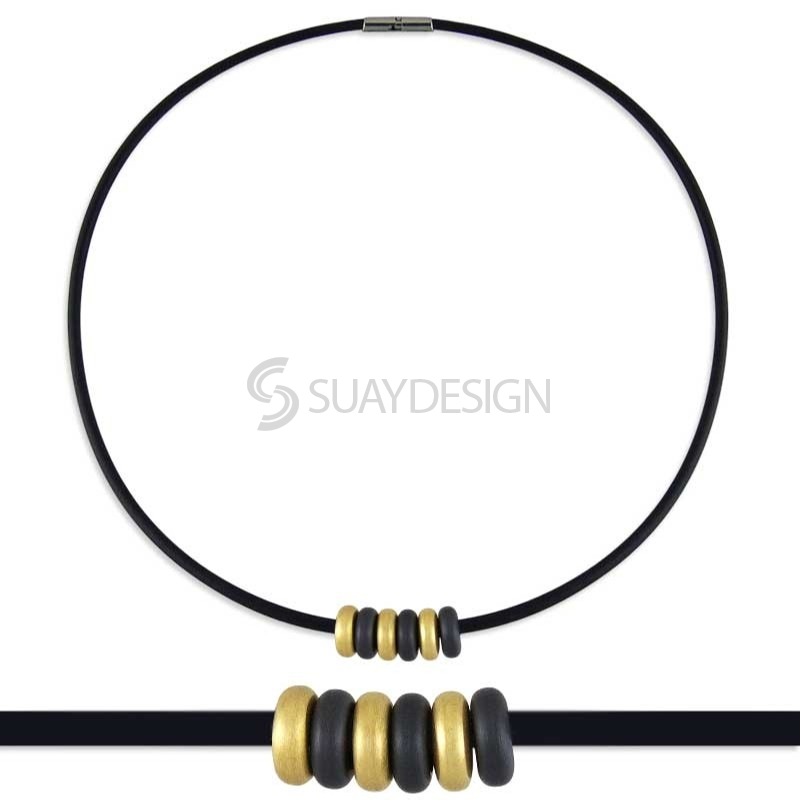 Women's Synthesis 18 Titanium Necklace