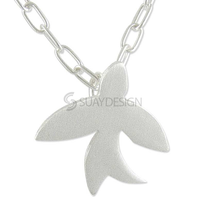 Women's Lone Silver Swallow Necklace