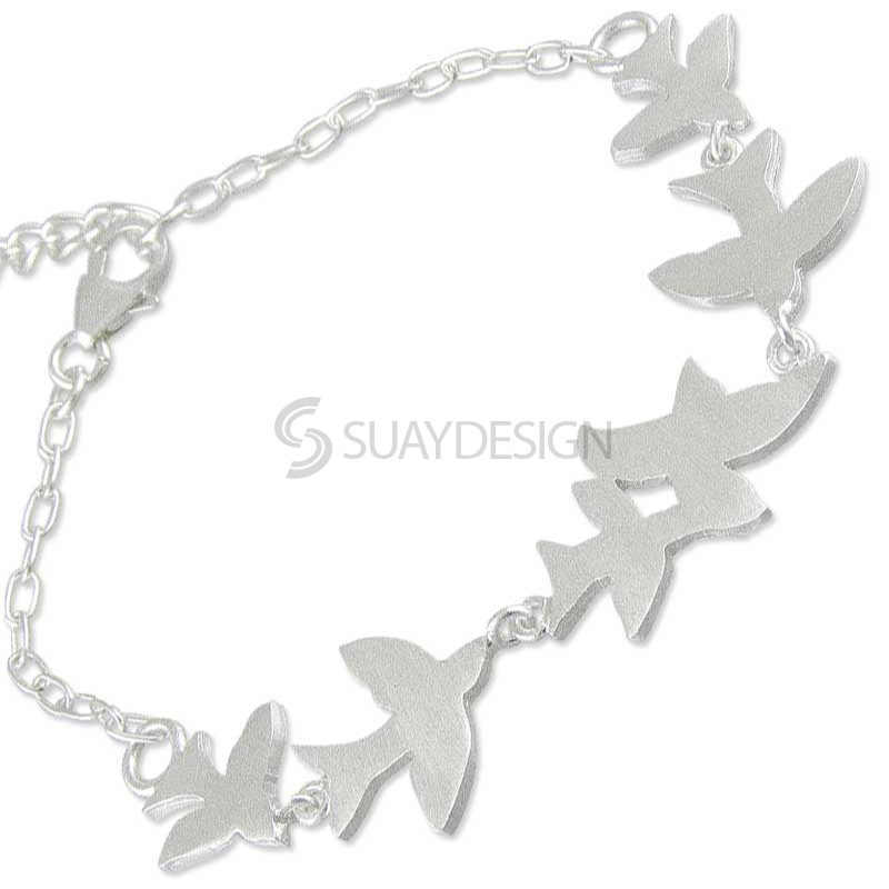 Women's Silver Swallow Bracelet