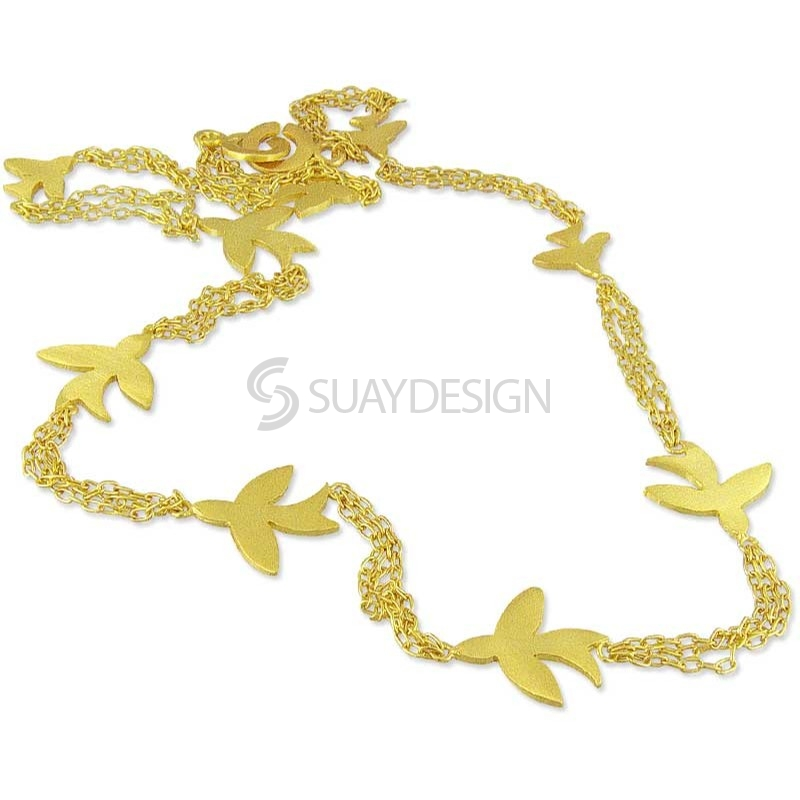 Women's Golden Chain of Swallows