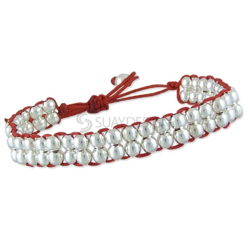 Women's Poise Red Silver Bracelet