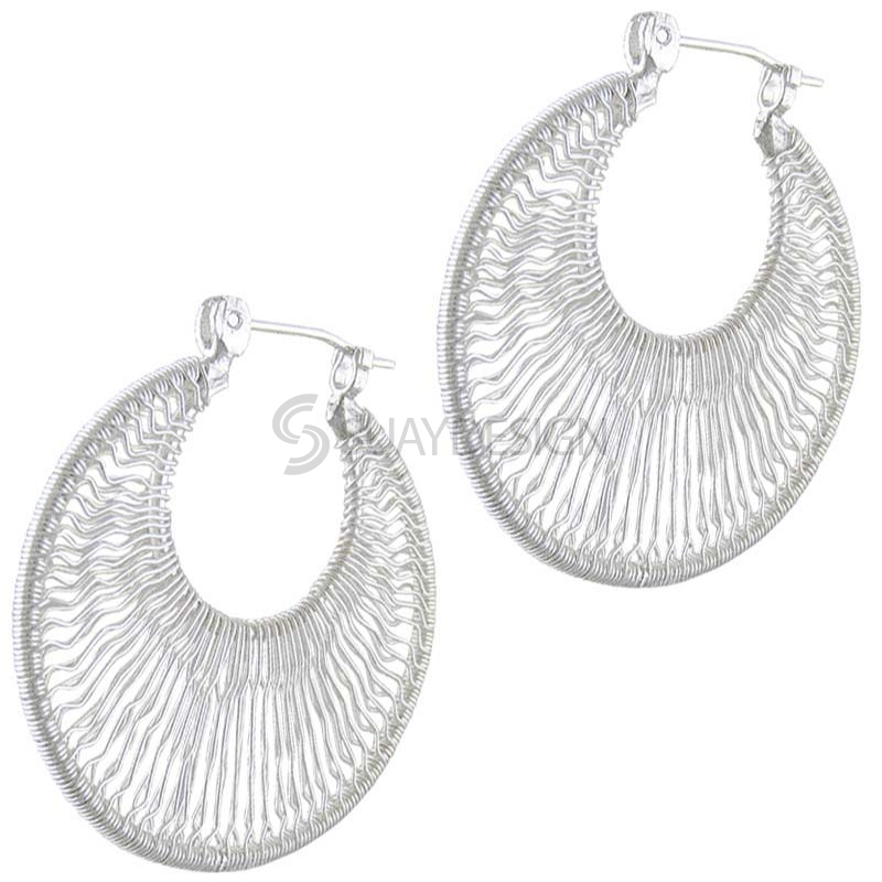 Women's Silver Filagree Earrings