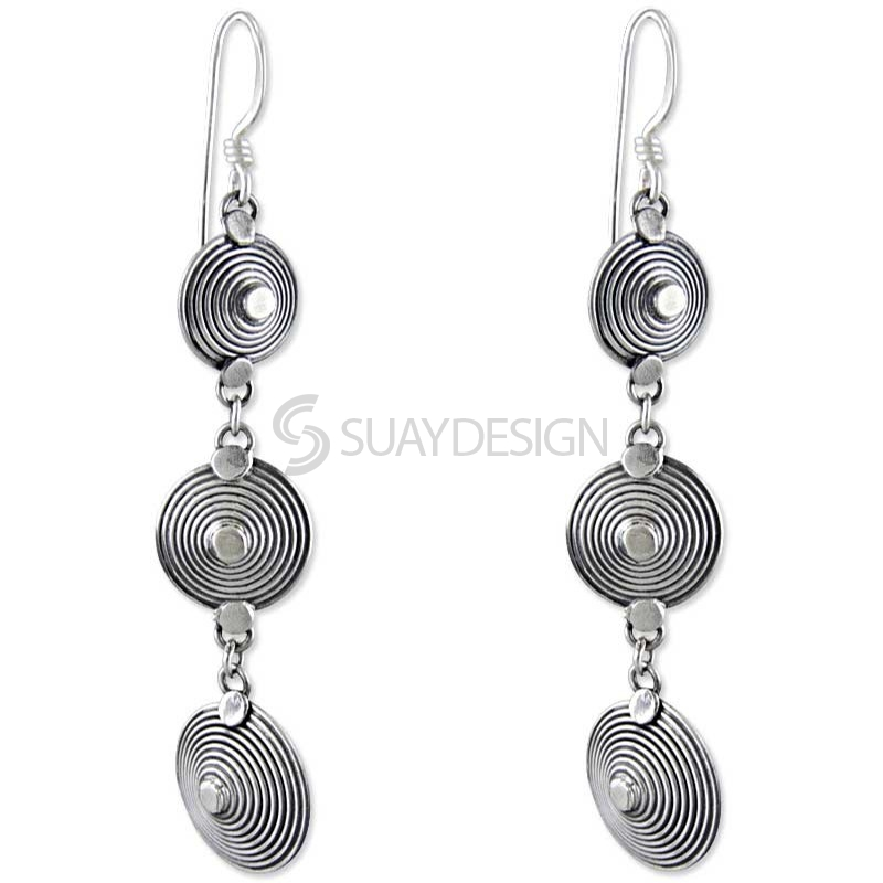 Women's Vivacious Silver Earrings