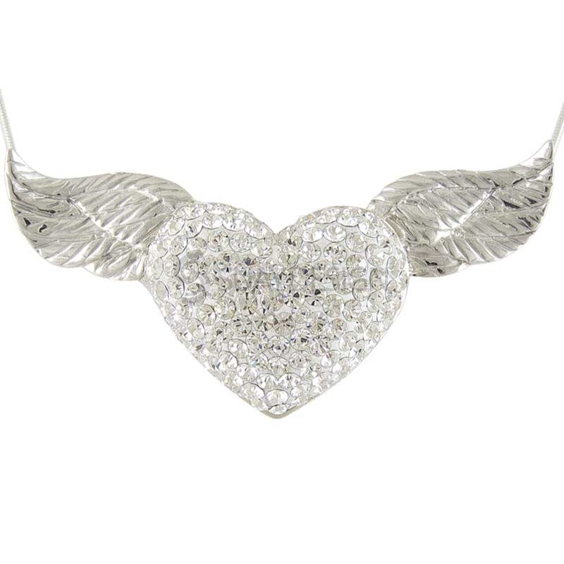 Women's Silver Masquerade Necklace