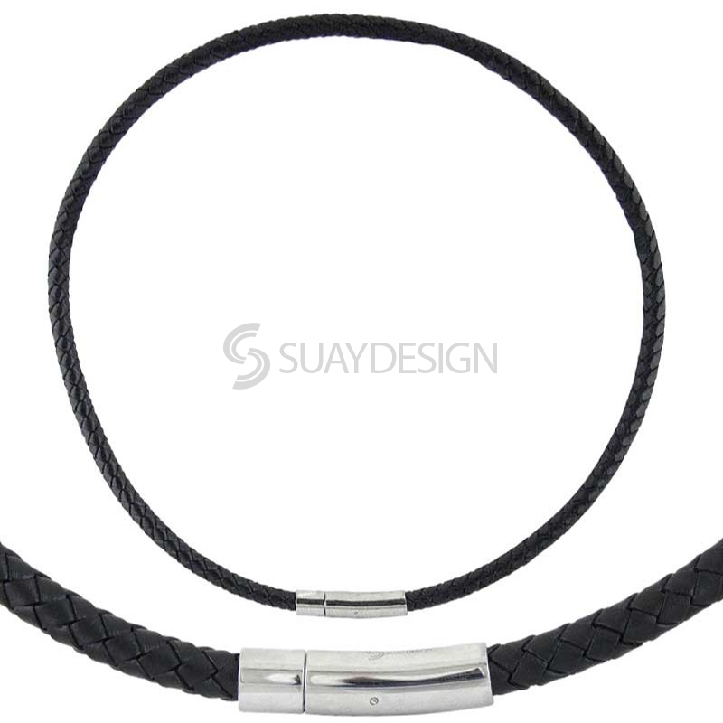 Boston Woven Leather Necklace