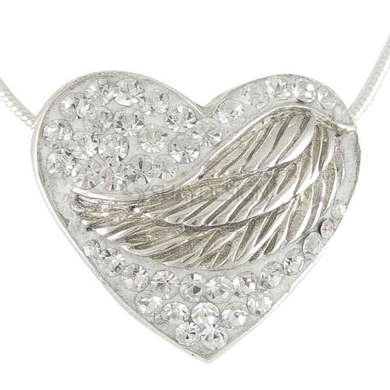 Women's Silver Winged Embrace