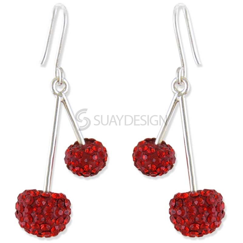 Women's Silver Cherry Delight Earrings
