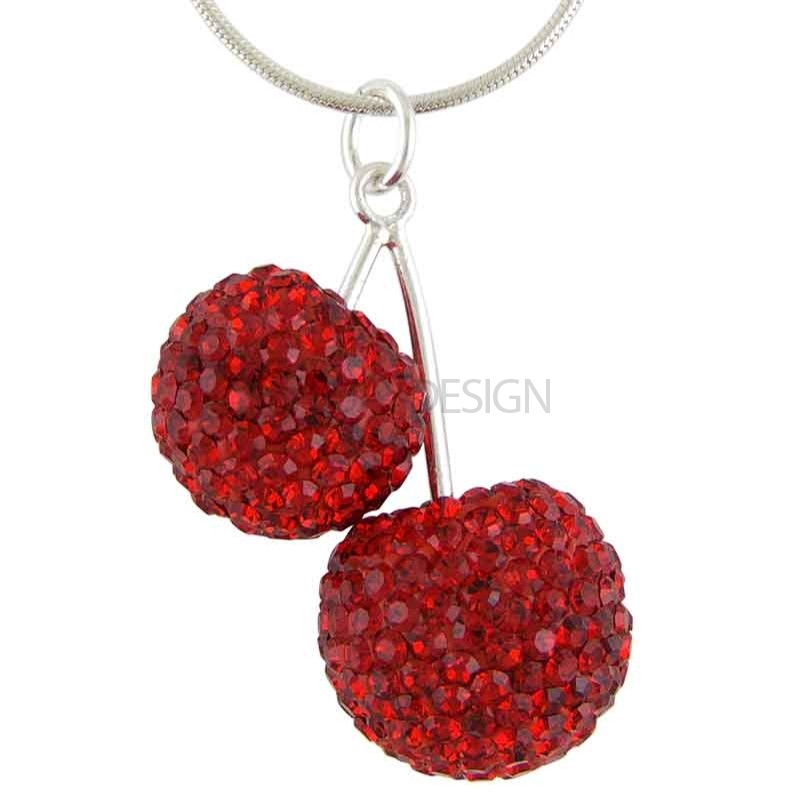 Women's Silver Cherry Delight Necklace