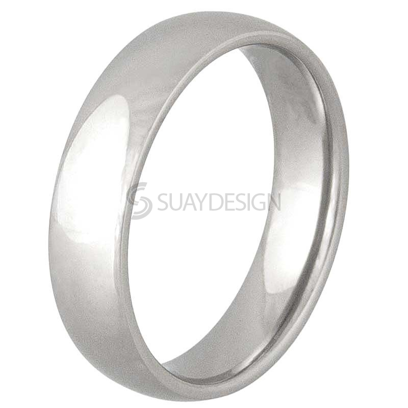 Women's Smooth 6mm Stainless Ring