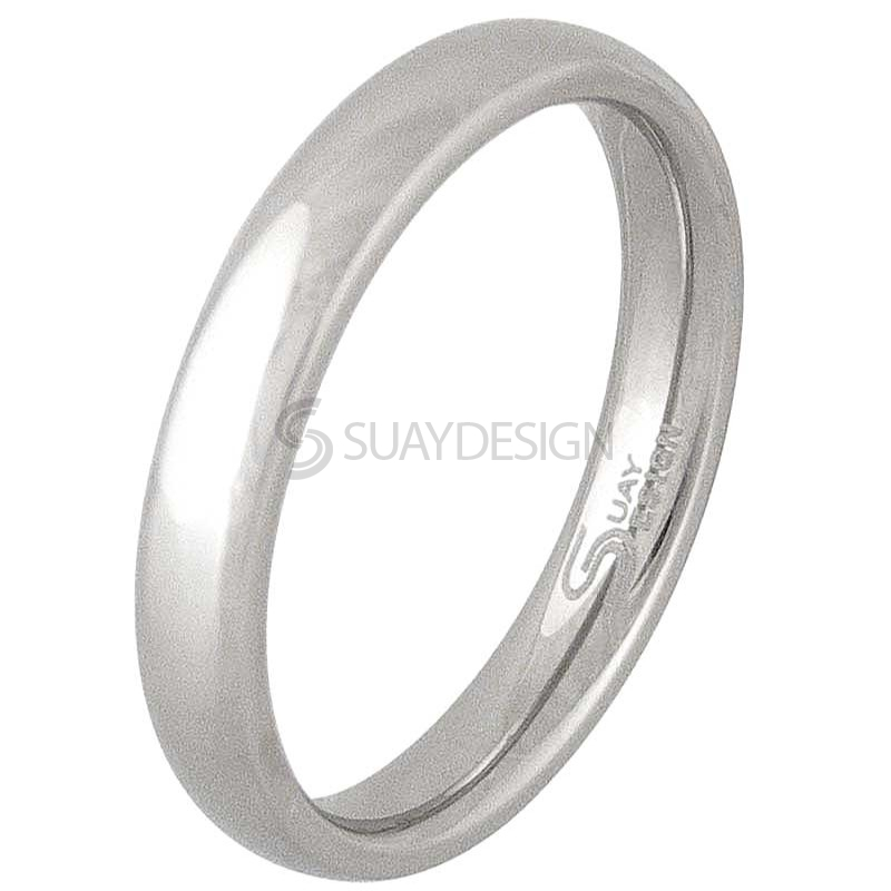 Women's Smooth 4mm Stainless Steel Ring