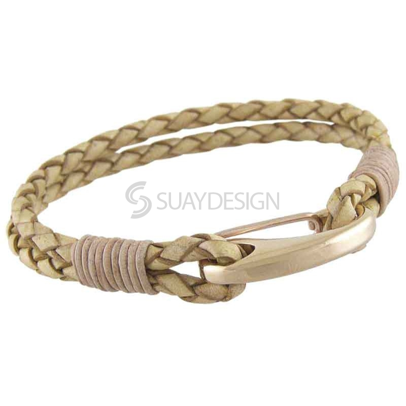 Women's Orlando Light Tan Leather Bracelet