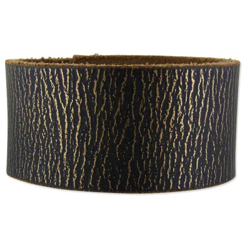 Madison Black Leather Cuff