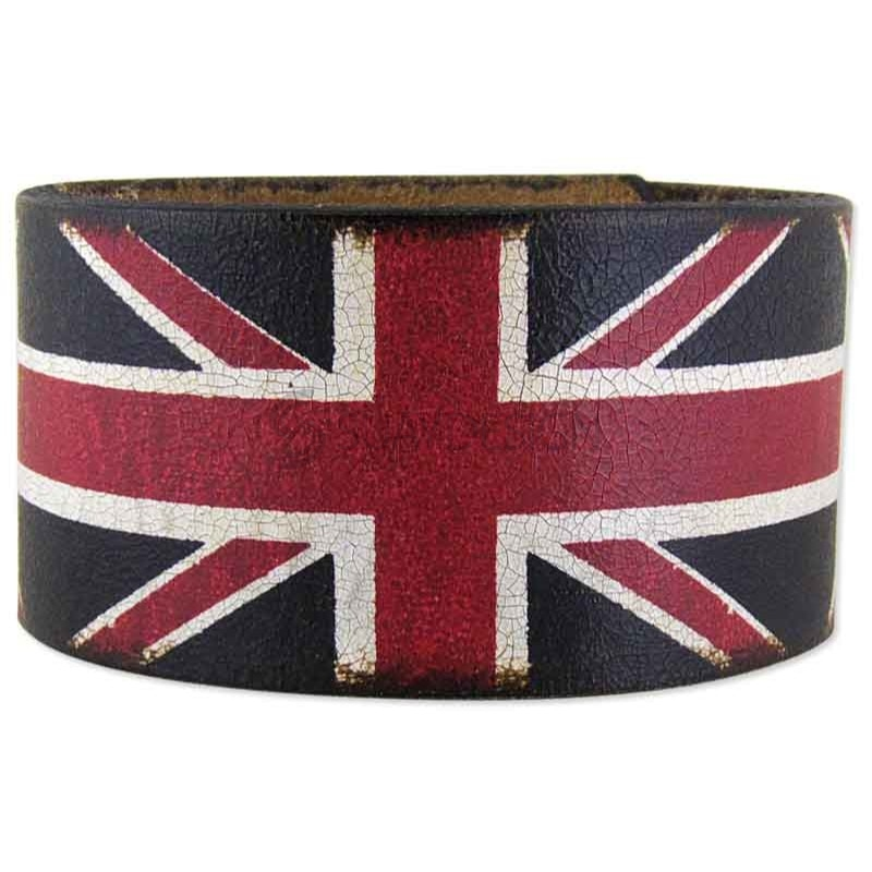 Union Jack Leather Cuff
