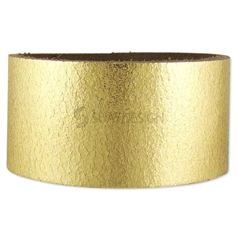 Women's Gold Metallic Leather Bracelet