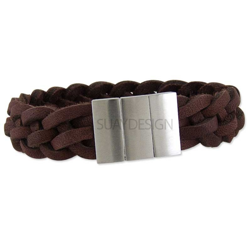 Delaware Brown Leather Bracelet