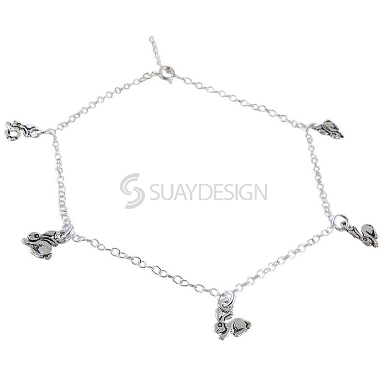 Silver Rabbit Ankle Chain