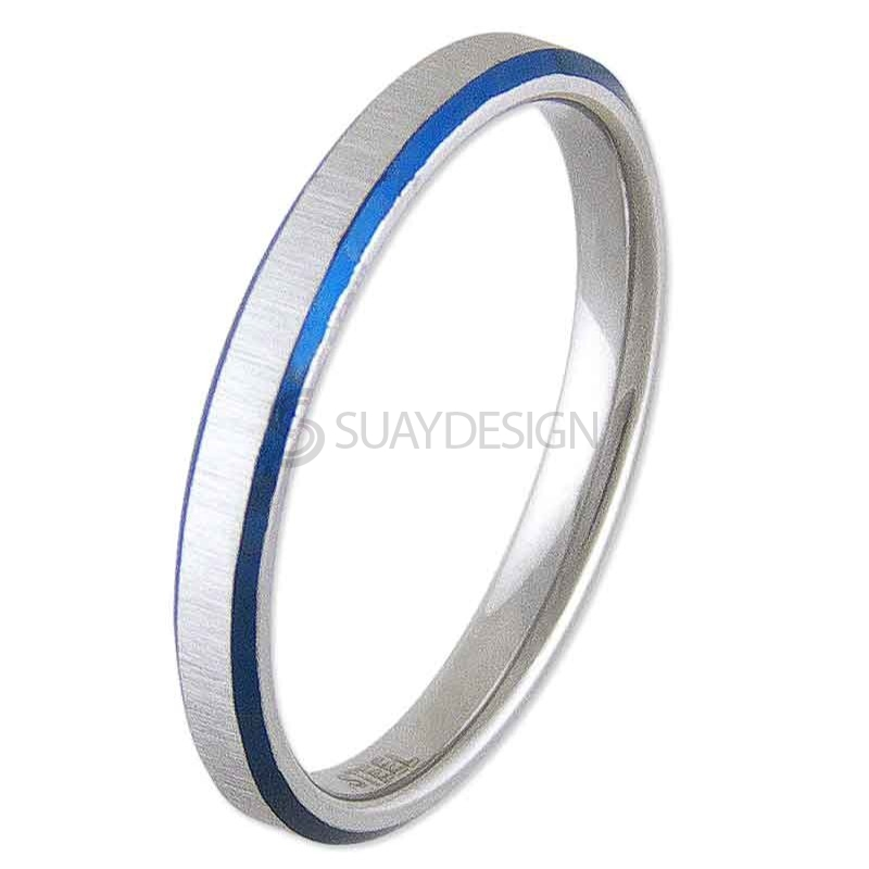 Women's Electric Blue Expectation Steel Ring