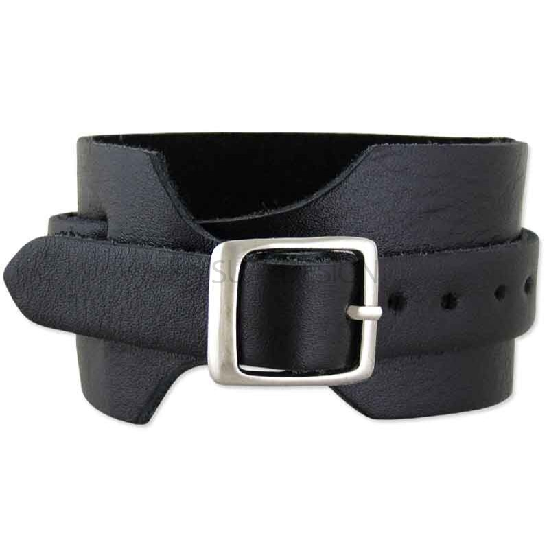 Lucca Black Leather Bracelet