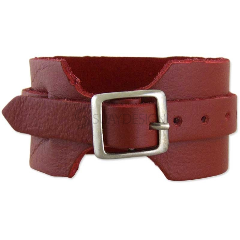 Women's Lucca Red Leather Bracelet