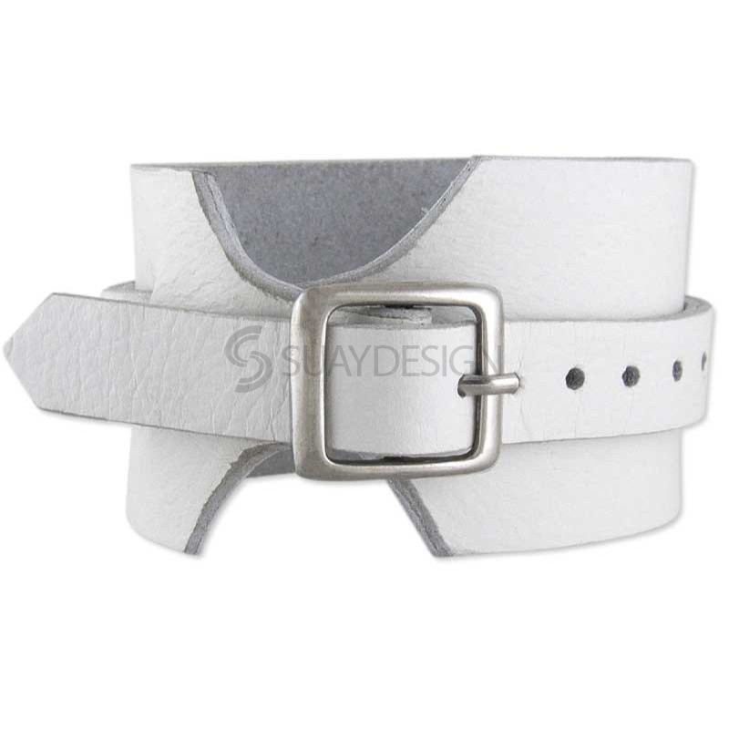 Lucca White Leather Bracelet