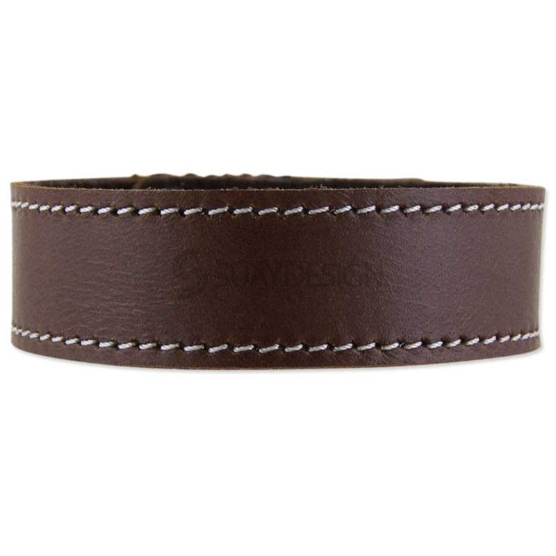 Ferarra Brown Leather Bracelet