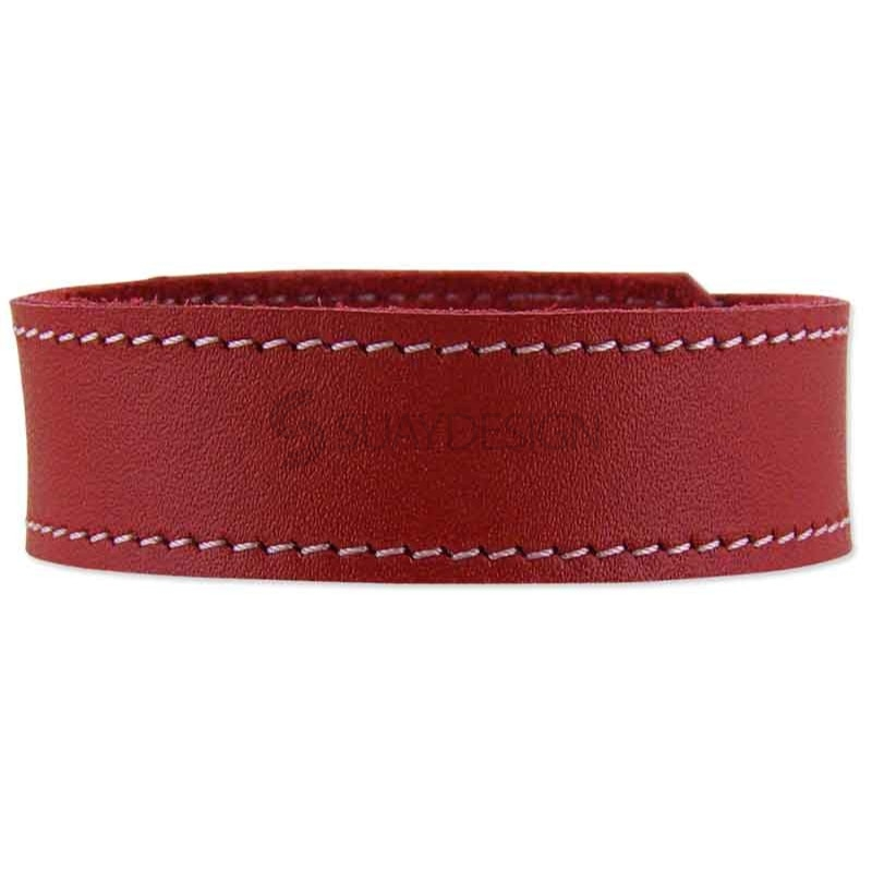 Ferarra Red Leather Bracelet