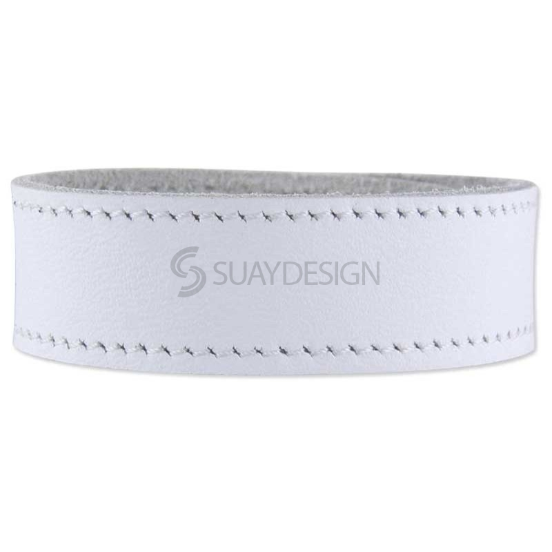 Ferarra White Leather Bracelet