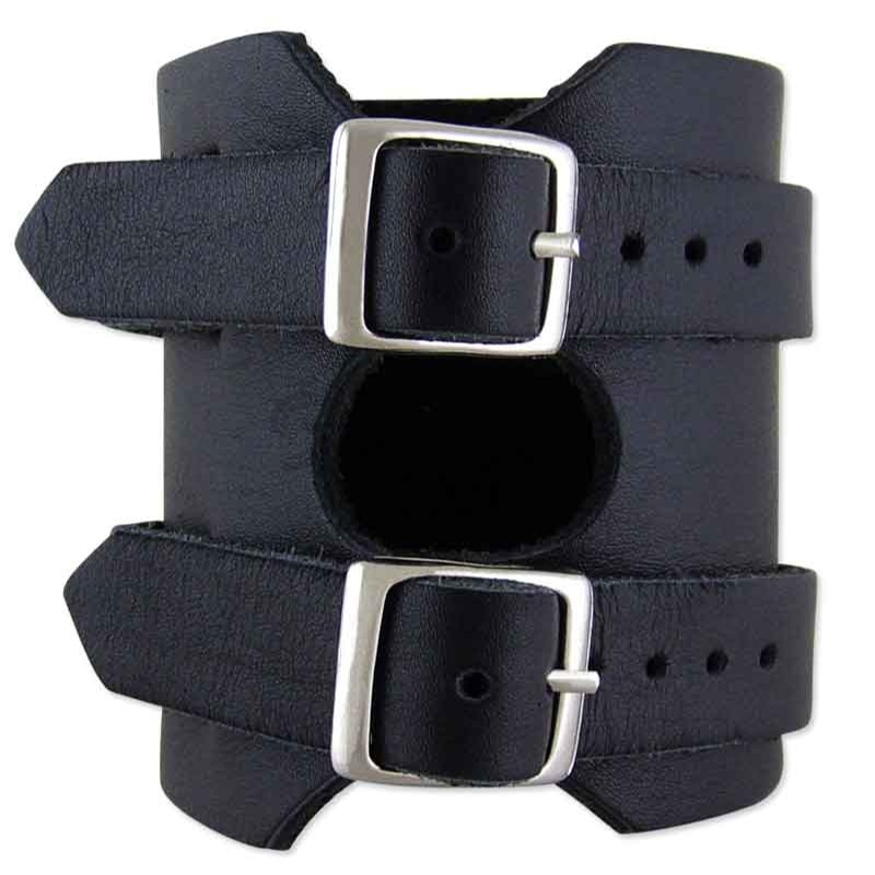 Como Black Leather Cuff