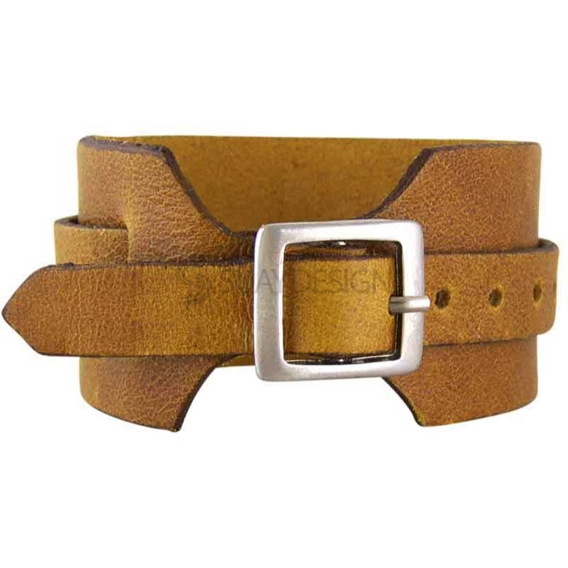 Lucca Tan Leather Bracelet