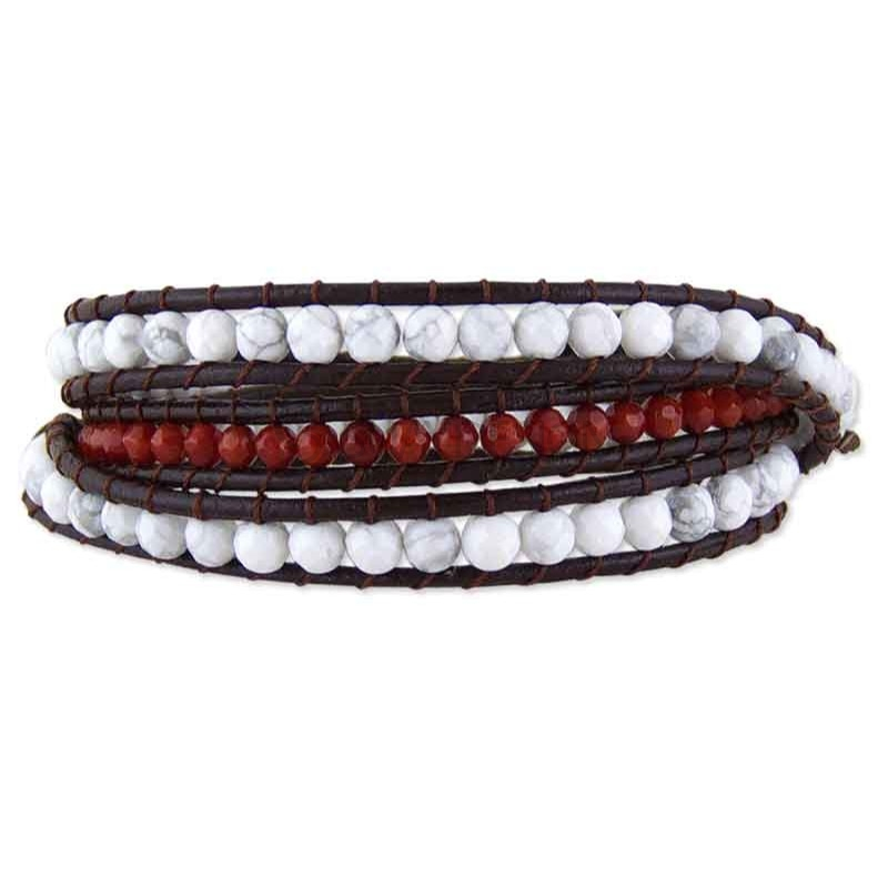 Women's Brasilia Leather Wraparound Bracelet