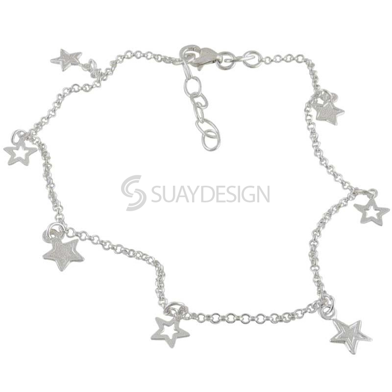 Women's Silver Star Ankle Chain