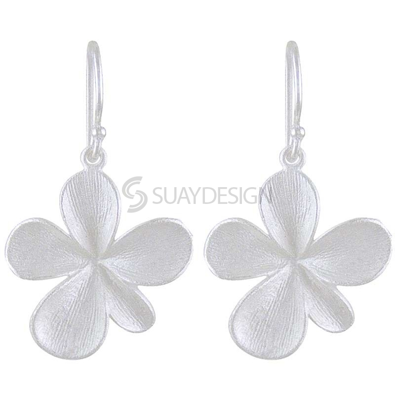 Women's Silver Poppy Earrings